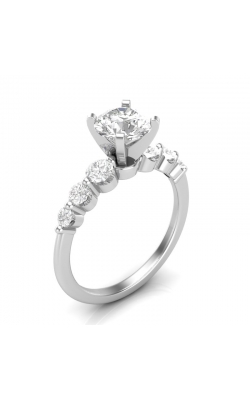 Love Story Diamond Engagement Semi-Mount in 14k White Gold, 1/2ctw product image
