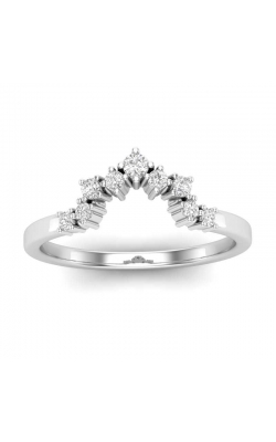 Love Story Diamond Chevron Vintage-Style Band In 14K White Gold, 1/8ctw product image