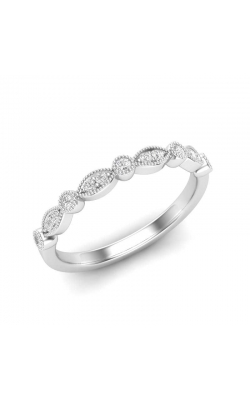 Love Story Diamond Band In 14K White Gold, 1/8ctw product image