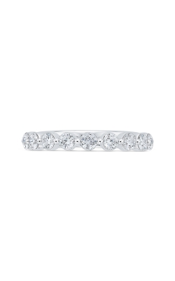 Love Story Bezel-Set Diamond Band in 14K White Gold, 1/4ctw product image