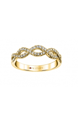 Love Story Infinity Diamond Band in 14K Yellow Gold, 1/4ctw product image