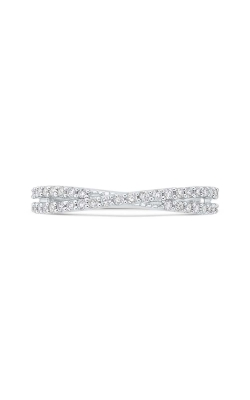 Love Story Diamond Crossover Band in 14K White Gold, 1/3ctw product image