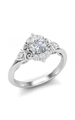 Love Story Vintage-Style Diamond Engagement Semi-Mount in 14K White Gold, 1/5ctw product image