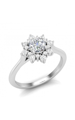 Love Story Star-Halo Diamond Engagement Semi-Mount in 14K White Gold, 1/4ctw product image