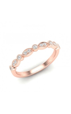 Love Story Diamond Band In 14K Rose Gold, 1/8ctw product image