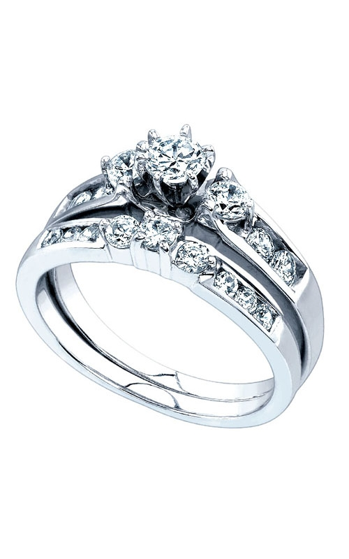 Love Story Diamond Bridal Set in 14K White Gold, 1ctw product image