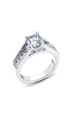 Love Story Diamond Engagement Semi-Mount Ring In 14K White Gold, 1/2ctw product image