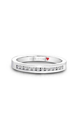 Love Story Channel-Set Diamond Band in 14K White Gold, 1/5ctw product image