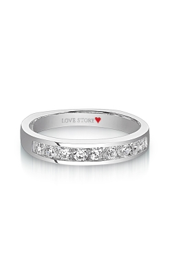 Love Story Diamond Wedding Band In 14K White Gold, 3/8ctw product image