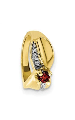 January (Garnet) Mini Memory Ring Charm (Girl/Yellow Gold) product image