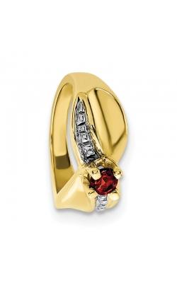 January (Garnet) Mini Memory Ring Charm (Girl/Yellow Gold) product image
