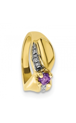 February (Amethyst) Mini Memory Ring Charm (Girl/Yellow Gold) product image