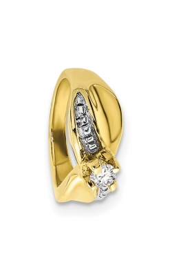 April (White Topaz) Mini Memory Ring Charm (Girl/Yellow Gold) product image