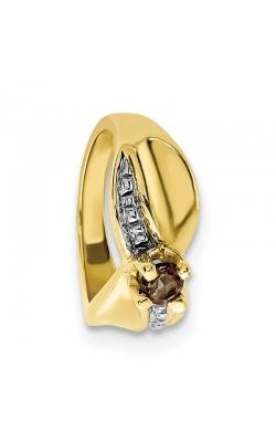 June (Smokey Topaz) Mini Memory Ring Charm (Girl/Yellow Gold) product image