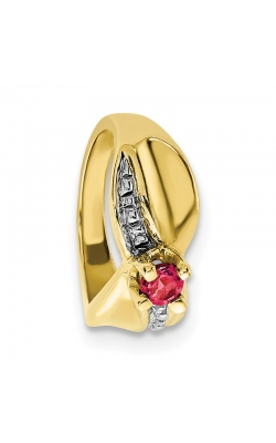 July (Ruby) Mini Memory Ring Charm (Girl/Yellow Gold) product image