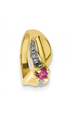 October (Pink Tourmaline) Mini Memory Ring Charm (Girl/Yellow Gold) product image