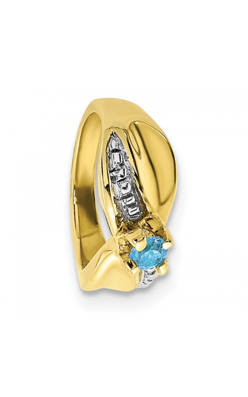 December (Blue Topaz) Mini Memory Ring Charm (Girl/Yellow Gold) product image