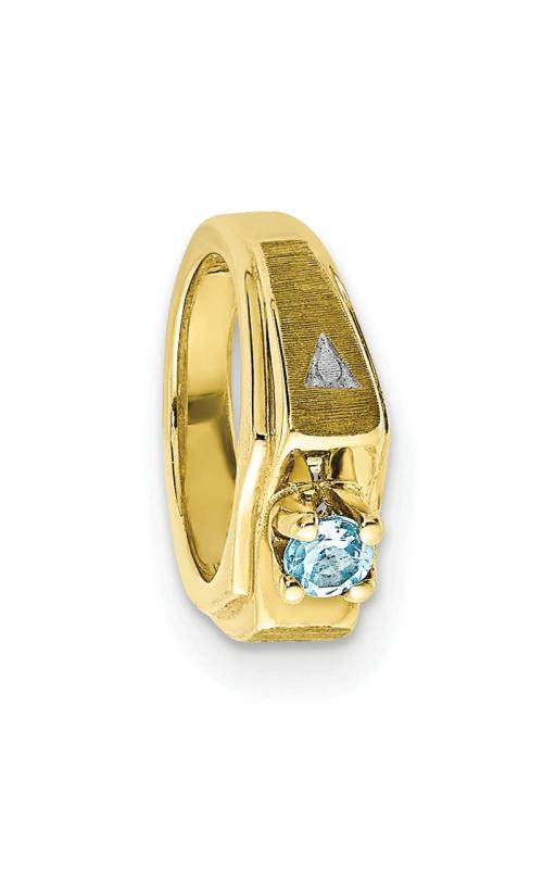 March (Aquamarine) Mini Memory Ring Charm (Boy/Yellow Gold) product image