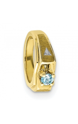 March (Aquamarine) Mini Memory Ring Charm (Boy/Yellow Gold) product image