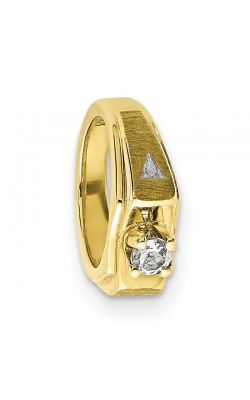 April (White Topaz) Mini Memory Ring Charm (Boy/Yellow Gold) product image