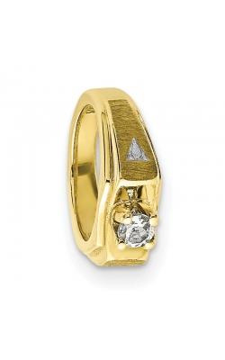 April (White Topaz) Mini Memory Ring Charm (Boy/Yellow Gold) product image