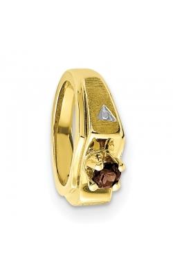 June (Smokey Topaz) Mini Memory Ring Charm (Boy/Yellow Gold) product image
