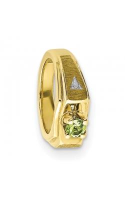 August (Peridot) Mini Memory Ring Charm (Boy/Yellow Gold) product image