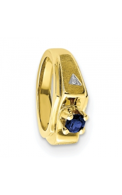 September (Sapphire) Mini Memory Ring Charm (Boy/Yellow Gold) product image
