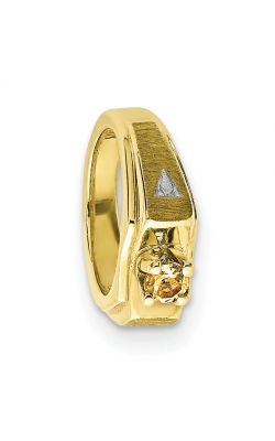 November (Citrine) Mini Memory Ring Charm (Boy/Yellow Gold) product image