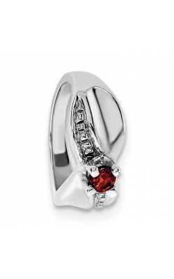 January (Garnet) Mini Memory Ring Charm (Girl/White Gold) product image