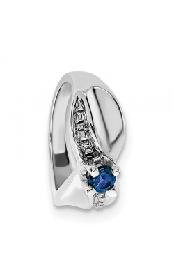September (Sapphire) Mini Memory Ring Charm (Girl/White Gold) product image