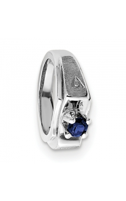 September (Sapphire) Mini Memory Ring Charm (Boy/White Gold) product image