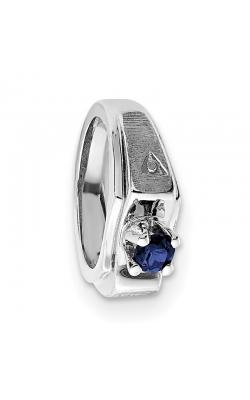 September (Sapphire) Mini Memory Ring Charm (Boy/White Gold) product image