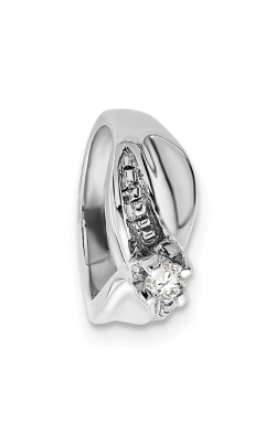 April (White Topaz) Mini Memory Ring Charm (Girl/White Gold) product image