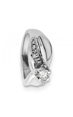April (White Topaz) Mini Memory Ring Charm (Girl/White Gold) product image