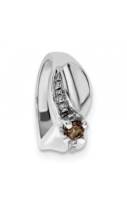 June (Smokey Topaz) Mini Memory Ring Charm (Girl/White Gold) product image