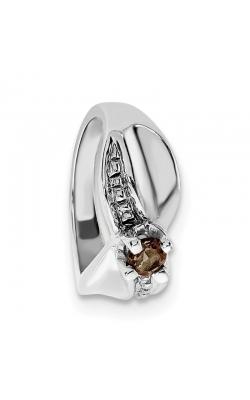 June (Smokey Topaz) Mini Memory Ring Charm (Girl/White Gold) product image