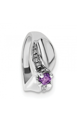 February (Amethyst) Mini Memory Ring Charm (Girl/White Gold) product image