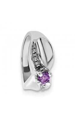 February (Amethyst) Mini Memory Ring Charm (Girl/White Gold) product image