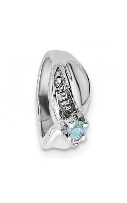 March (Aquamarine) Mini Memory Ring Charm (Girl/White Gold) product image