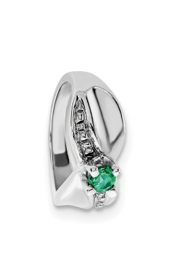 May (Emerald) Mini Memory Ring Charm (Girl/White Gold) product image
