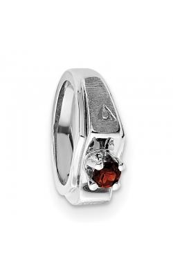 January (Garnet) Mini Memory Ring Charm (Boy/White Gold) product image