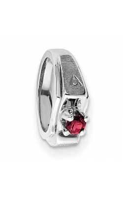 July (Ruby) Mini Memory Ring Charm (Boy/White Gold) product image
