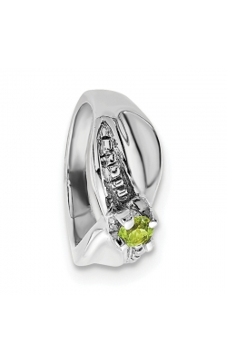 August (Peridot) Mini Memory Ring Charm (Girl/White Gold) product image