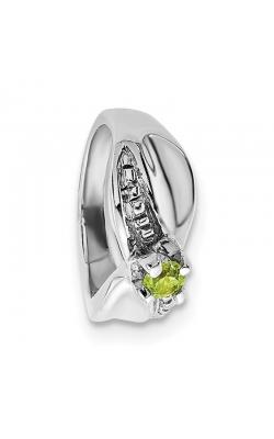 August (Peridot) Mini Memory Ring Charm (Girl/White Gold) product image