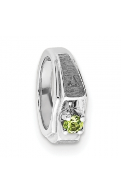 August (Peridot) Mini Memory Ring Charm (Boy/White Gold) product image