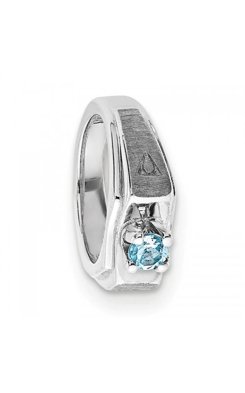 March (Aquamarine) Mini Memory Ring Charm (Boy/White Gold) product image