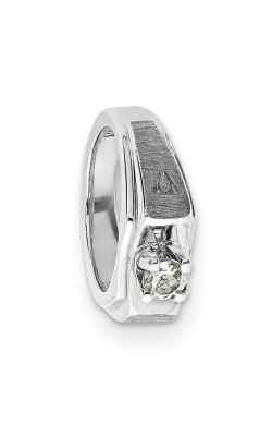 April (White Topaz) Mini Memory Ring Charm (Boy/White Gold) product image