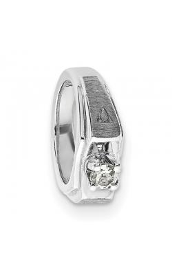 April (White Topaz) Mini Memory Ring Charm (Boy/White Gold) product image