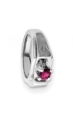 October (Pink Tourmaline) Mini Memory Ring Charm (Boy/White Gold) product image